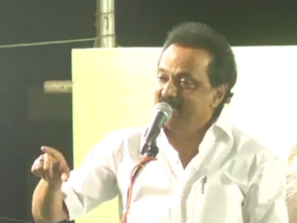 DMK acting president MK Stalin slam union government for imposing Hindi