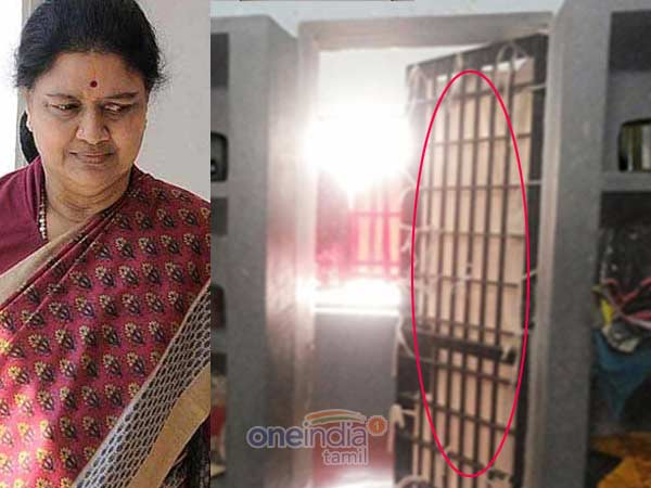 Sasikala prison rooms are closed with a cloth
