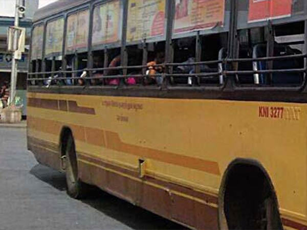 A govt bus went into a house and two shops in Chennai