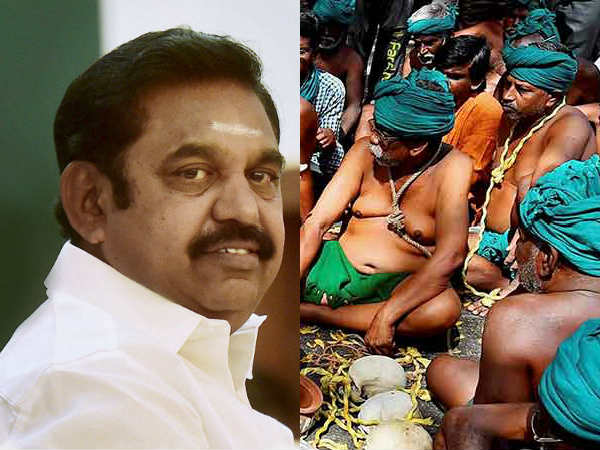 CM Palaniswami meets protesting farmers in Delhi