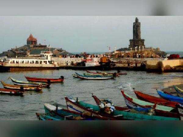 கடல் சீற்றம் எதிரொலி.. கன்னியாகுமரியில் சுற்றுலா படகு சேவை ரத்து
