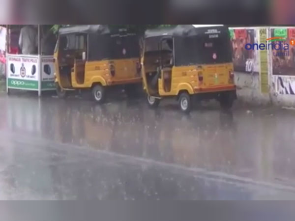 Heavy rain and thunderstorm in many places of Chennai