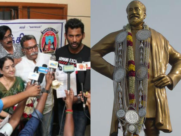 South Indian artist association passed a resolution about Sivaji's statue