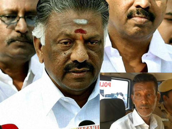 An Attack with Knife on O Panneerselvam at Trichy Airport