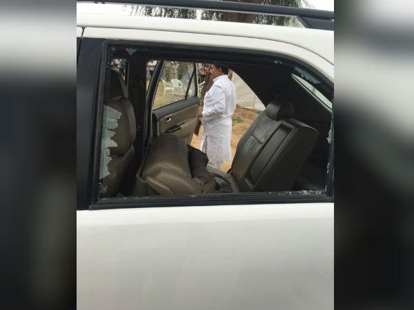 Cong VP Rahul Gandhi car attacked in Gujarat