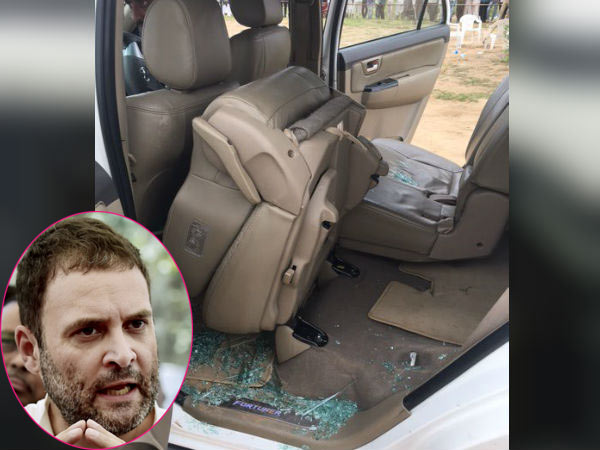 A BJP leader arrested in Gujarat for attacked Rahul Gandhi's car