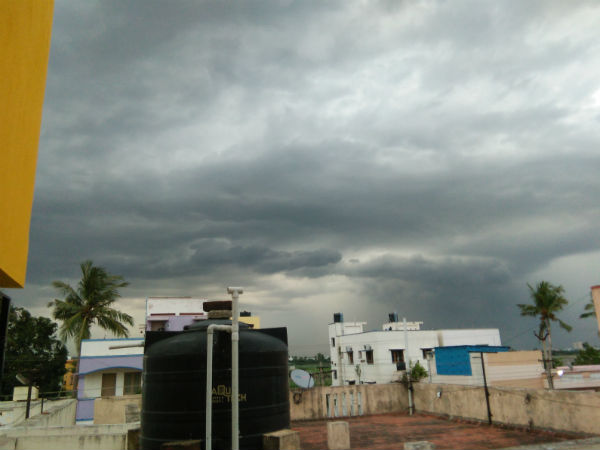 Sudden rain in some places of Chennai today