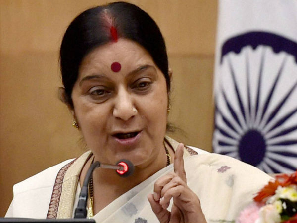 War not a solution, says Sushma Swaraj