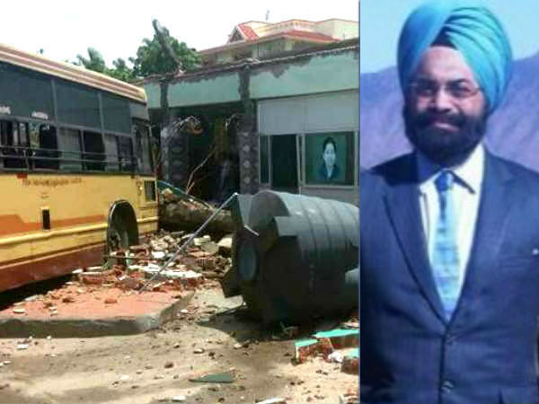 Gagandeep Singh Bedi to inquire into the collapse of the Somanur bus stand