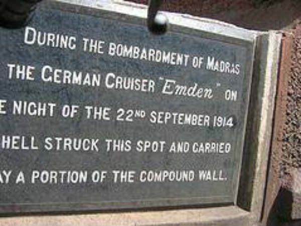 Emden, the only warship attacked Chennai