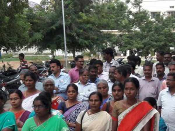 Jactto Geo Association in Erode protest again