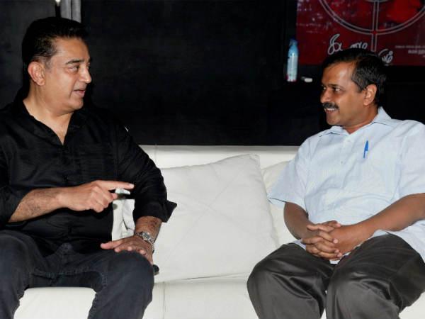 கமலஹாசன் - கெஜ்ரிவால் சந்திப்பு... தேசிய அரசியலுக்குள் கமல்?