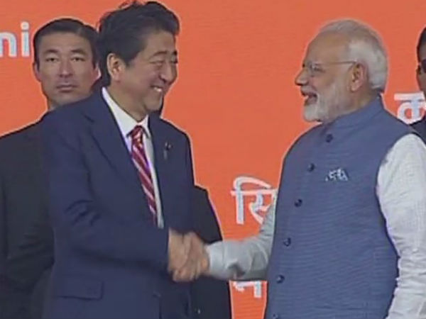 Bullet rail project inaugurated by PM Modi and Japanese PM Shinzo Abe