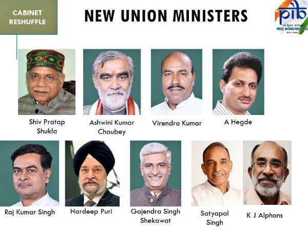 What are the portfolios for the New ministers who took oath today
