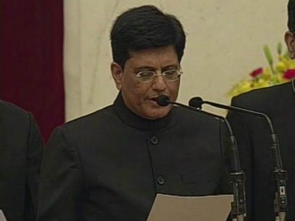 Piyush Goyal has been assigned Railways