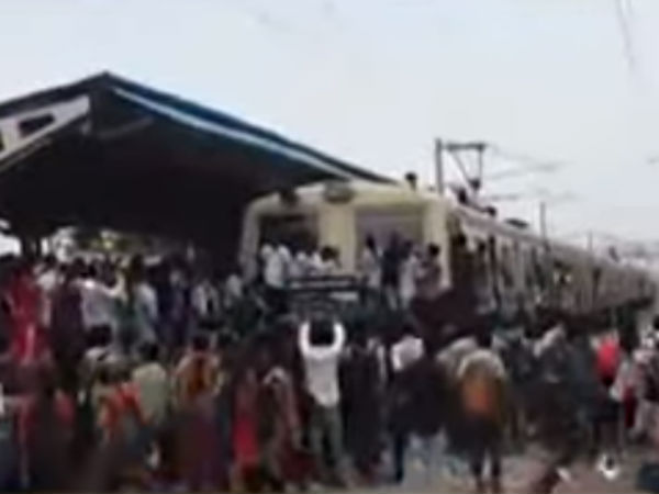 Chennai suburban train services affected because of college students rail rogo