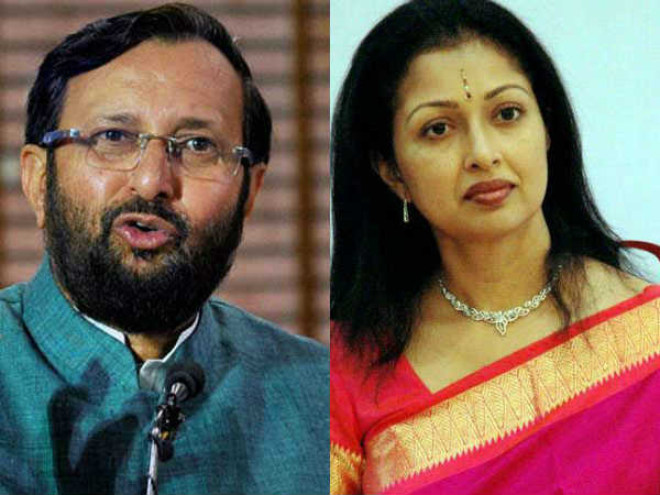 Actress Gauthami meets union minister Prakash Javadekar in Delhi