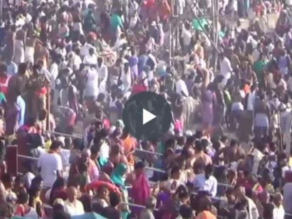நீத்தார் கடன் தீர்க்கும் மகாளய அமாவாசை.... ராமேஸ்வரத்தில் முன்னோருக்குத் திதி!