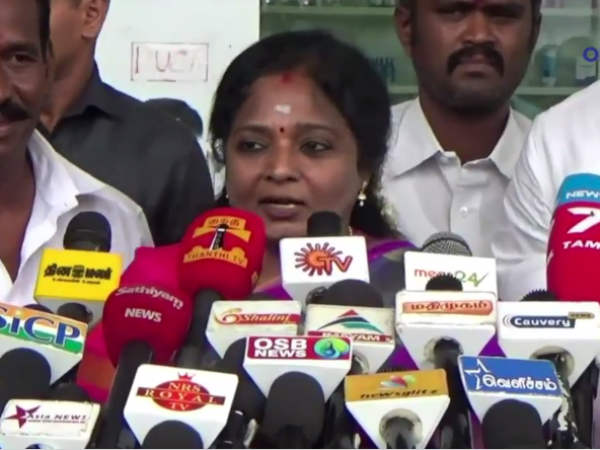 M.K.Stalin and Tamilisai having war of words between them