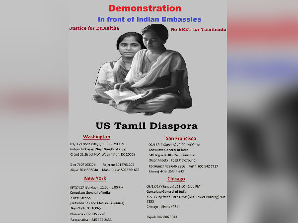American Tamils protesting third week for Anitha