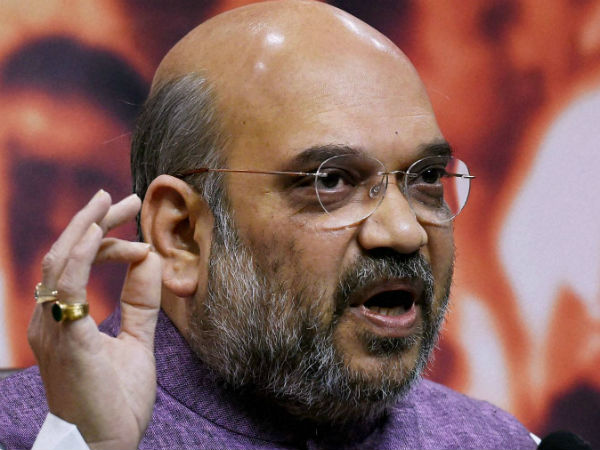 Amit Shah in Congress chief Sonia Gandhi's Amethi