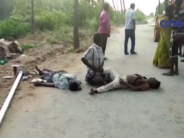 In Karur district Mayanur 2 persons died after electric shock