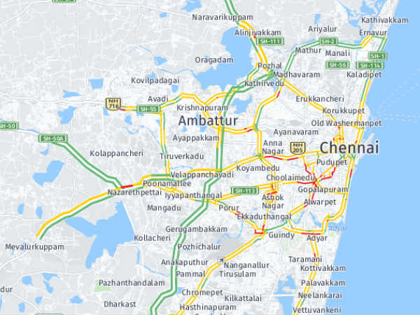 chennai traffic return to normal traffi mode as the rain is not in the city
