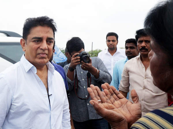 North Chennai People requested Kamalhaasan to push the government to take action against environment issue at Ennore