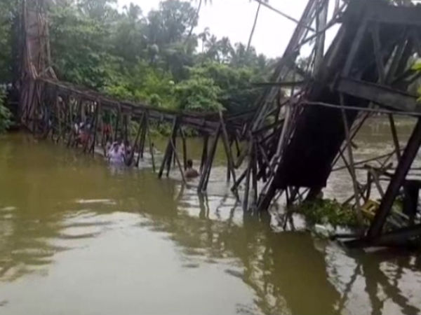 Kollam foot over bridge collapses, one killed