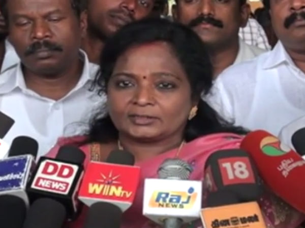 I Did not oppose Thambi Vijay in the Mersal movie: Tamilisai