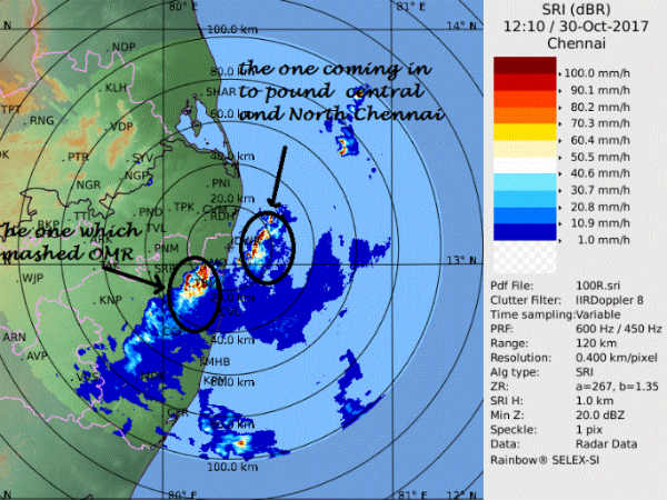 Cloudburst in OMR and southern suburbs of Chennai
