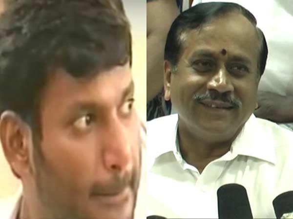 """""""நெட்""""டில் மெர்சல் படம் பார்த்த ராஜா.. விஷால் கருத்து என்னவோ?"""