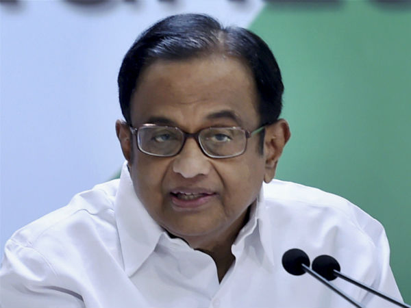 P Chidambaram Slams the Minister who said Cancer is the result od Divine Justice