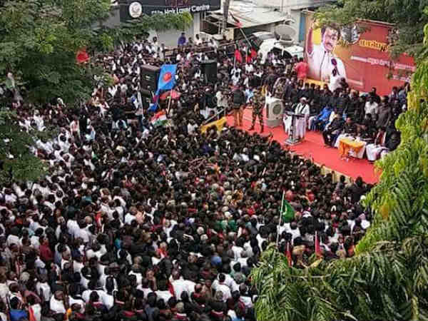 DMK protest over Tamilnadu against demonetization