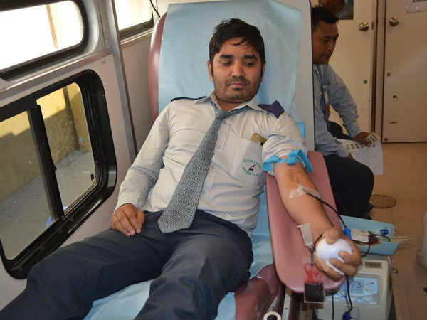 Blood donation camp conducted in Abudhabi on 20th of this month
