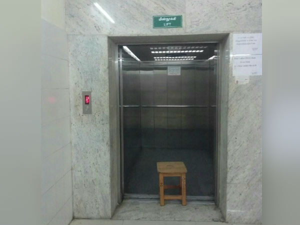 Egmore hospital administration stopped the lift for patient usage