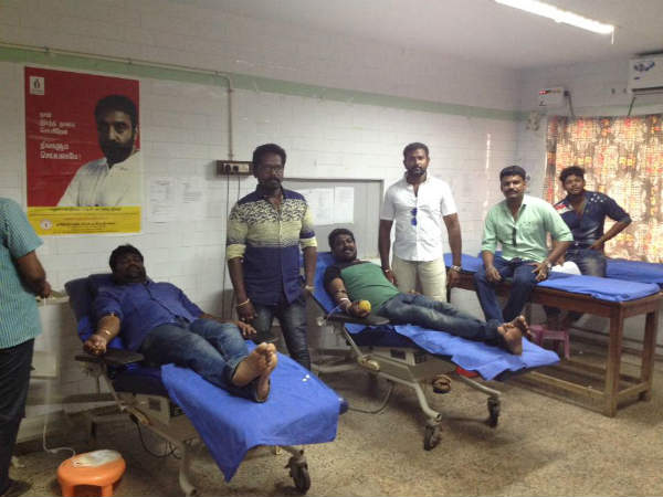 Naam Thamizhar party's blood donation camp