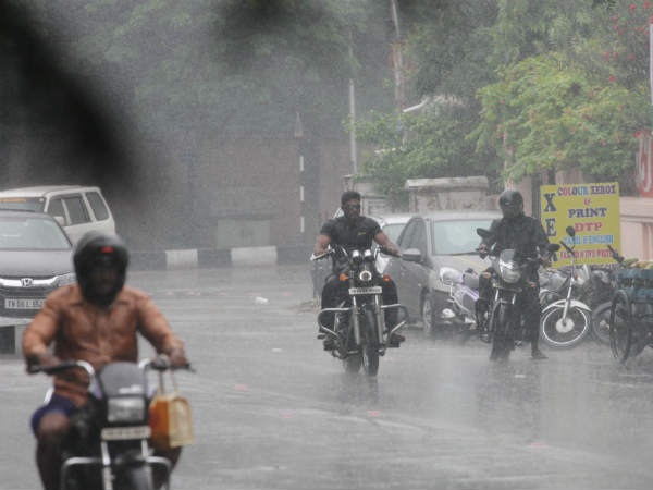 Rains in most of the places of Chennai