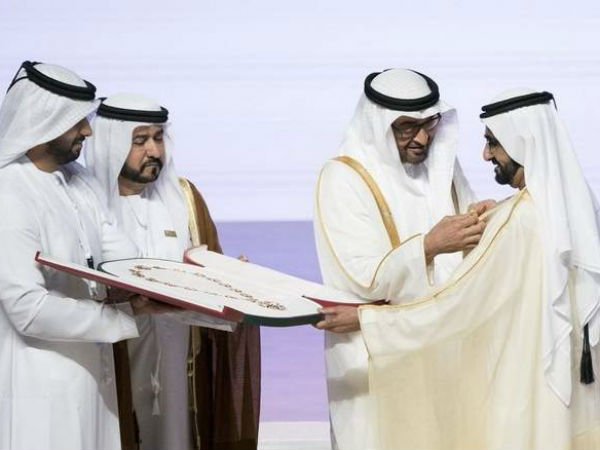 Sheikh Mohammed bin Rashid Al Maktoum, Vice President and Prime Minister of the UAE and Ruler of Dubai received the 'Order of the Mother of the Nation'