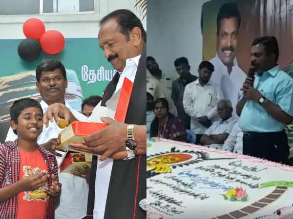 Vaiko, Thirumavalavan celebrate Prabhakaran's birthday