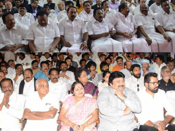 Vaiko seated in 2nd row at PM Modi function