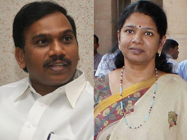 A Rasa and Kanimozhi supporters deployed in Delhi due to 2G case verdict