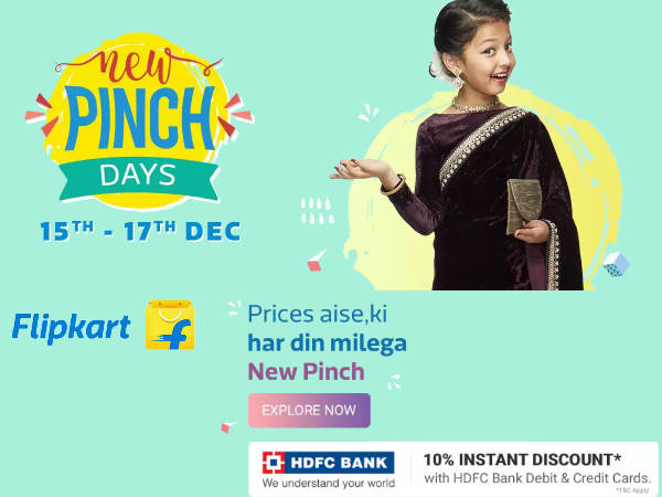 Flipkart 'New Pinch Days' - Grab Upto 80% Off + Extra 10% Off*