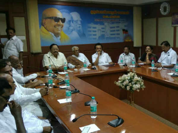 DMK district secretaries meeting will be conducting in Chennai on 7th January