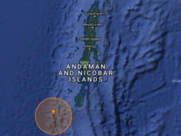 An earth quack hits in Andaman nicobar islands, magnitude 5.2