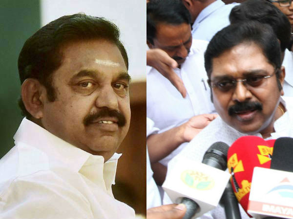 Fight between Dinakaran group and Edappadi gropu in RK nager election campaign