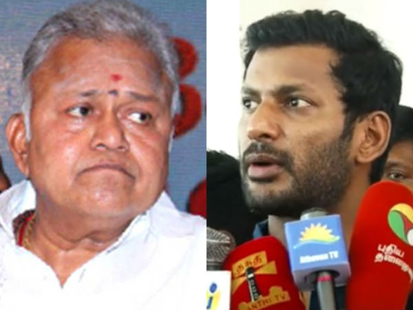 Vishal has given exception from appearing in Radharavi case for next hearings
