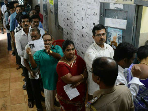 RK Nagar registers 75% votes