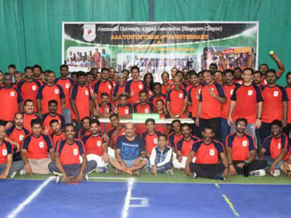 Singapore Annamalai university former students association conducted cricket match