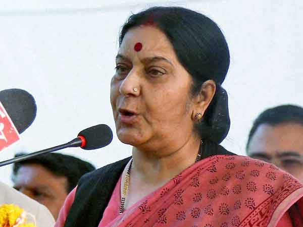 Sushma Swaraj condemns Pakistan on Kulbhushan's issue